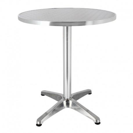 TABLE BRUXELLES ALUMINIUM Ø60