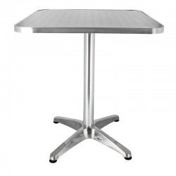 TABLE BRUXELLES ALUMINIUM 60X60