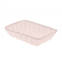 CORBEILLE POLYPROPYLENE DORDOGNE BLANC RECTANGLE PM