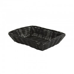CORBEILLE POLYPROPYLENE DORDOGNE NOIR RECTANGLE PM