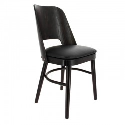 CHAISE COLISEE HETRE WENGE - ASSISE SIMILI NOIR