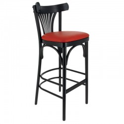 CHAISE HAUTE NEW ORLEANS HETRE NOIR - ASSISE SIMILI ROUGE