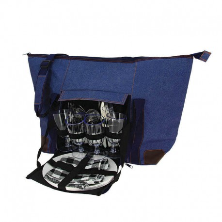 SAC PLAGE JEANS ISOTHERME PERIGORD 4 COUVERTS