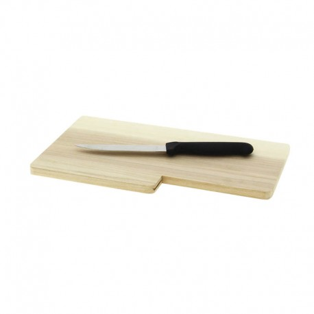 PLANCHE BOIS 28X17X1.2 + COUTEAU KNIFE