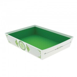 CORBEILLE CARTON RECTANGLE PRINTEMPS GM 36X27X7