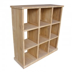 MEUBLE PRESENTOIR PIN 9 CASES MADERA