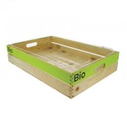 CAGETTE BOIS + FOND PLASTIQUE GM + LOGO BIO