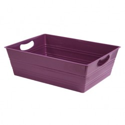 PLASTICO RECTANGLE MAUVE 35,5X27X11