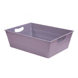 PLASTICO RECTANGLE GRIS 35,5X27X11