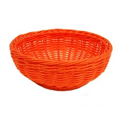 CORBEILLE POLYPROPYLENE RONDE MOSCO ORANGE Ø16X6.5