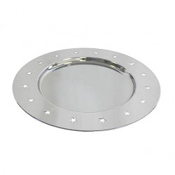 ASSIETTE CHROME RONDE Ø30,5X1,4