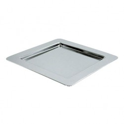 ASSIETTE CHROME CARREE 30,5X30,5X1