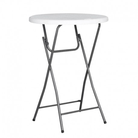TABLE MANGE DEBOUT RONDE HDPE NIMES Ø80X110
