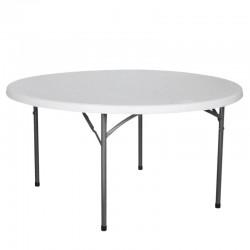 TABLE RONDE HDPE NIMES Ø180X74