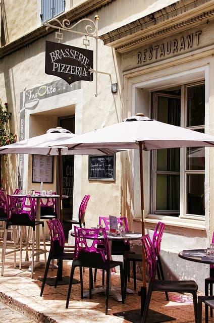 Parassol terrasse restaurant